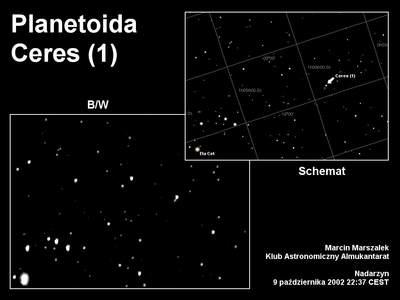 Planetoida Ceres, 9 października 2002 godzina 22:37