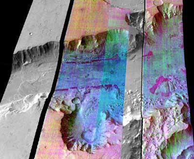 Valles Marineris w podczerwieni