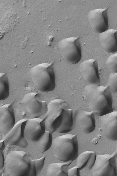 Wydmy na Marsie - krater Wirtza