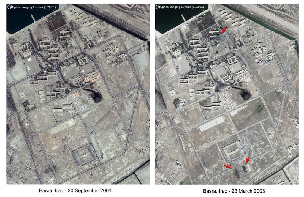 Basra - efekt bombardowań