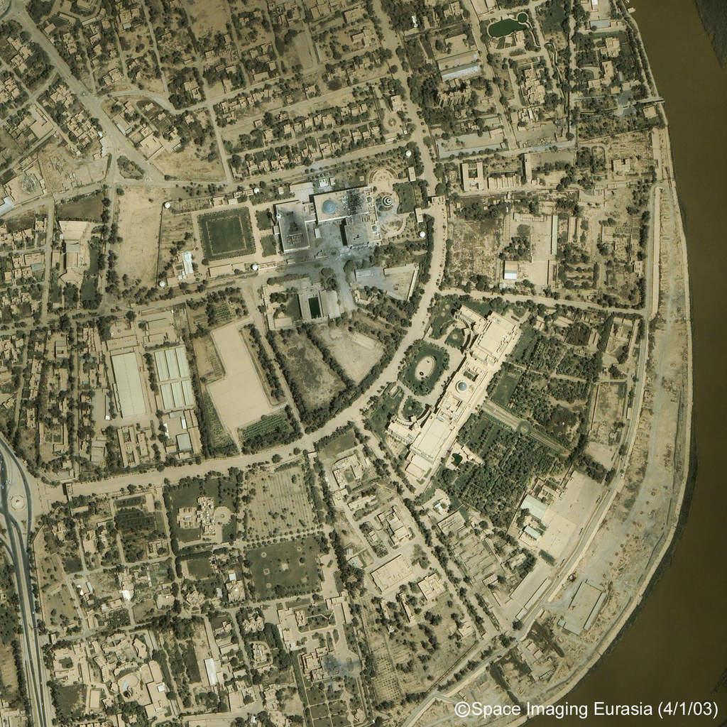 Bagdad: Zbombardowany Pałac Republikański