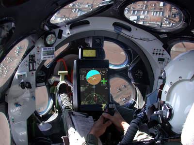 Kokpit samolotu White Knight