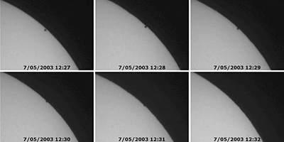 Merkury opuszcza tarczę słoneczną