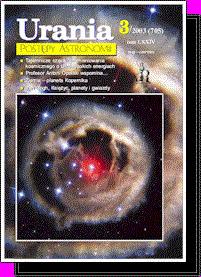 """Okładka """"Uranii-Postępów Astronomii"""" - 3/2003"""