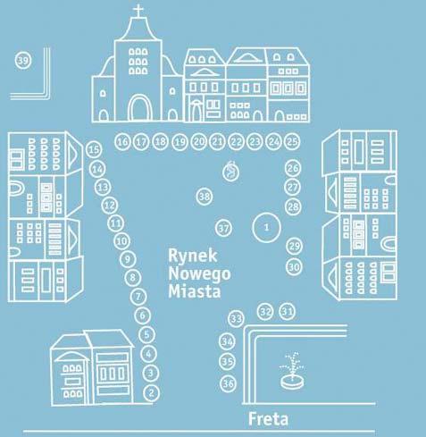 VII Piknik Naukowy - plan Rynku Nowego Miasta