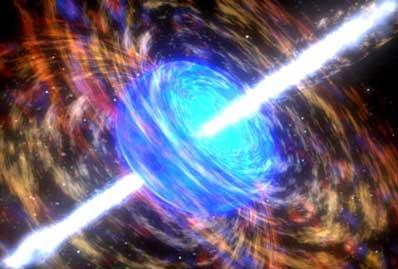 Błysk gamma niszczy gwiazdę
