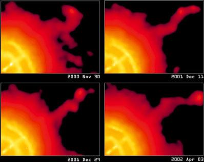 Struga materii (dżet) wyrzucana z pulsara Vela