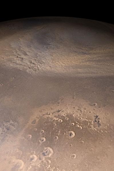 Jesienna burza piaskowa na Marsie