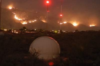 Pożar wpobliżu Tucson