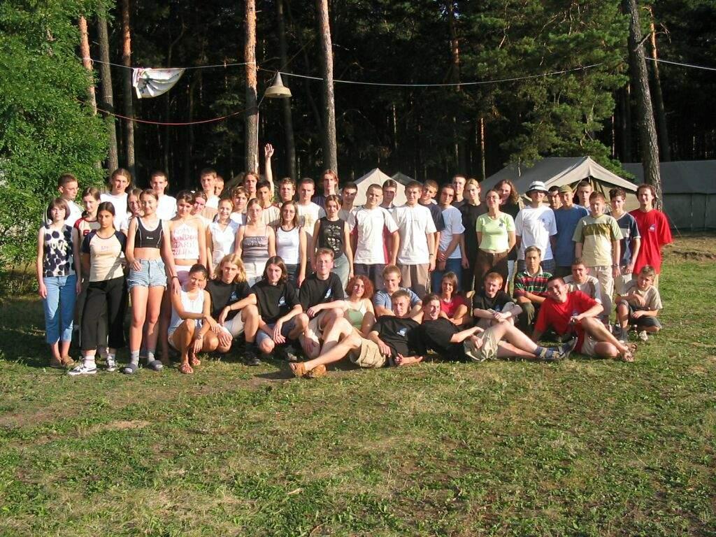 Uczestnicy pierwszego obozu 2003