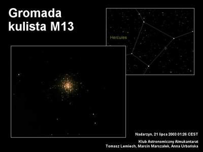 M13 wobiektywie Meade ETX-70AT