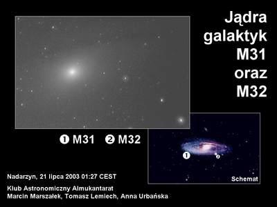 Jądro M31 przezMeade ETX-70AT