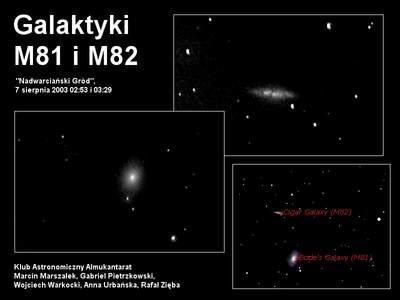 M81 i M82 sfotografowane z Załęcza