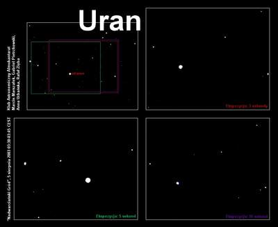 Uran widziany zZałęcza