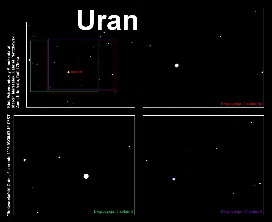 Uran widziany z Załęcza