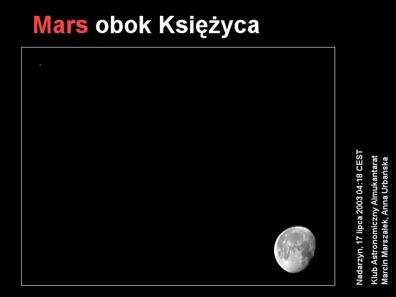 Mars obok Księżyca