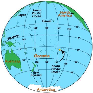 Położenie wyspy Tahiti