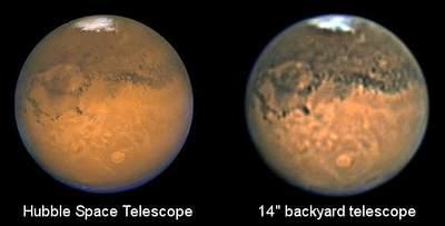 Mars widziany zHST izprzydomowego ogródka