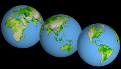 Mapa Ziemi według danych z SRTM30
