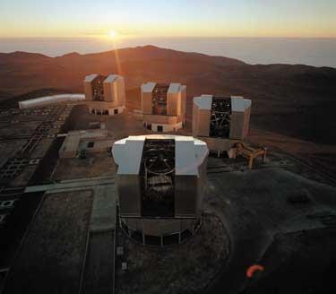 VLT - 4 teleskopy