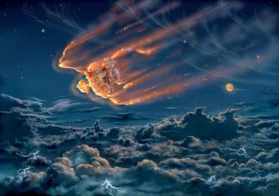Galileo płonie w atmosferze Jowisza