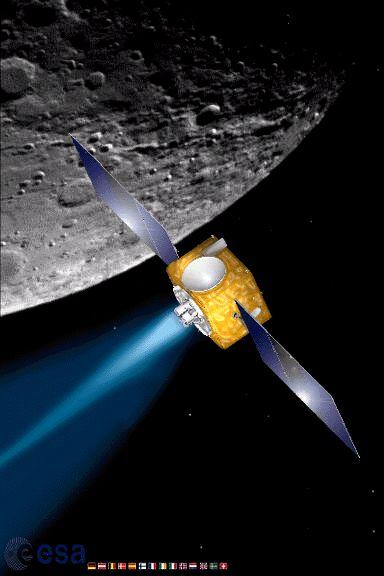 SMART-1 nad Księżycem