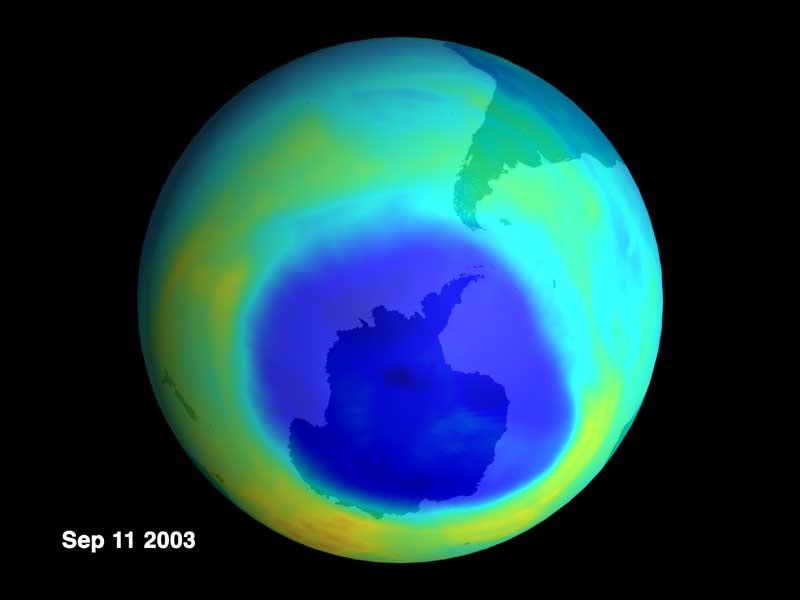 Dziura ozonowa, 11 września 2003