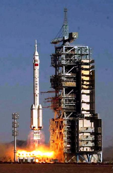 Start Shenzhou 5 z Yang Liwei