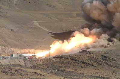 Test silnika rakietowego I