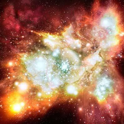 Artystyczna wizja regionu formowania się gwiazd
