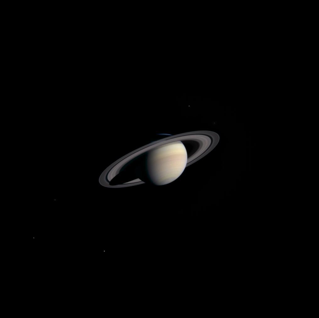Saturn, zdjęcie wykonane przez sondę Cassini