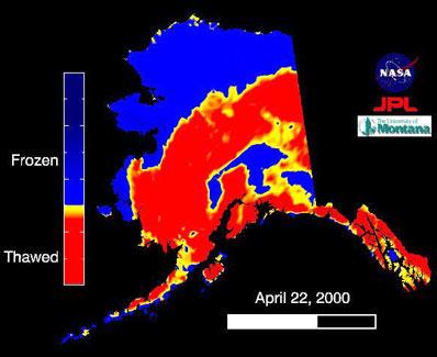Alaska w promieniowaniu mikrofalowym