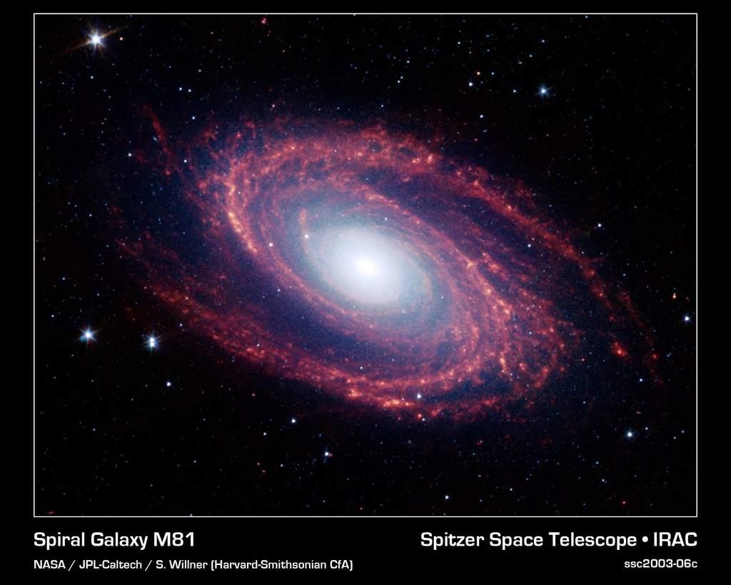 M81 w podczerwieni