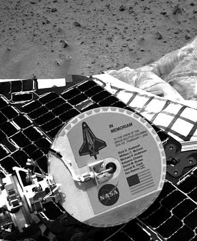 Płytka poświęcona załodze STS-107 (II)