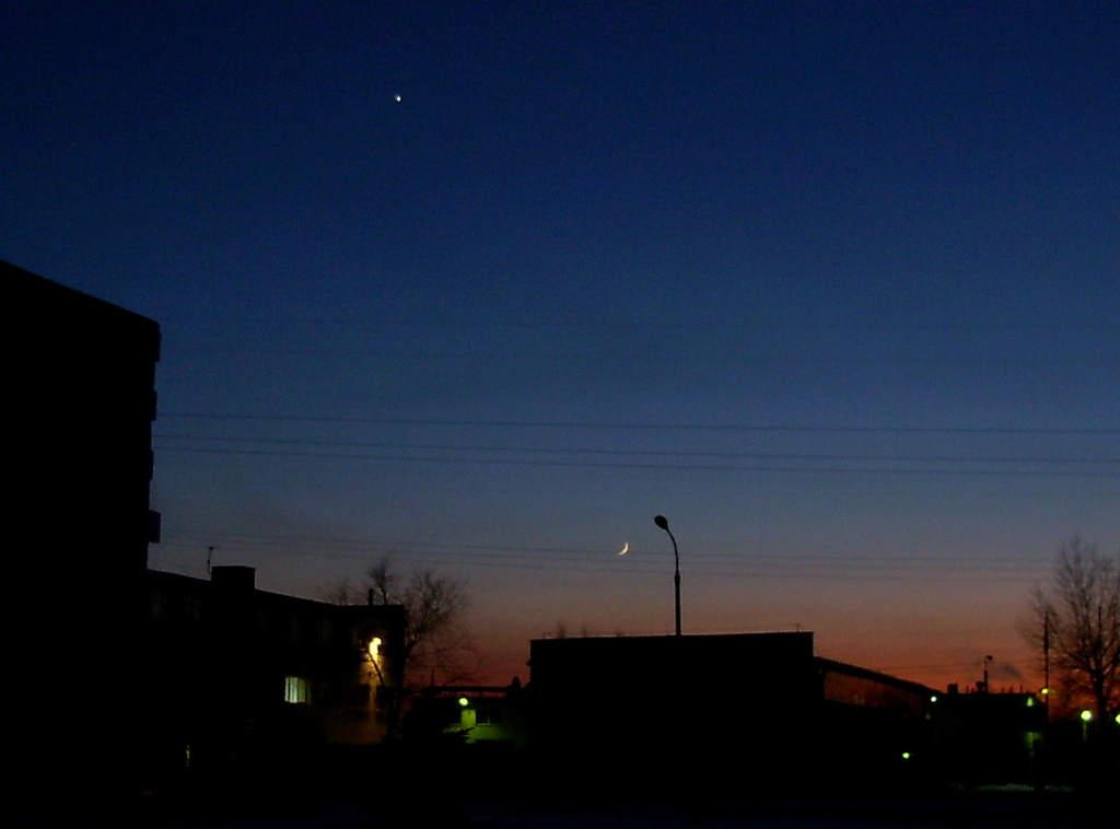 Księżyc i Wenus 23 stycznia 2004 (II)