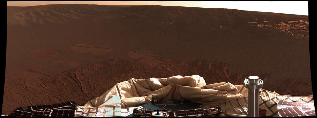 Krater, w którym wylądował MER B