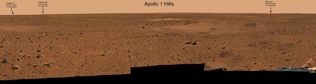 Wzgórza upamiętniające załogę Apollo 1
