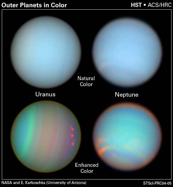 Porównanie Urana i Neptuna