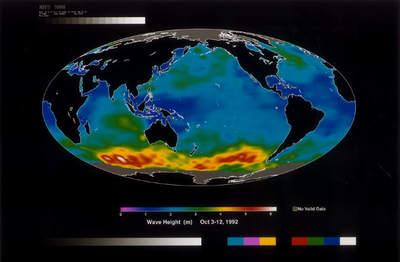Powierzchnia oceanów