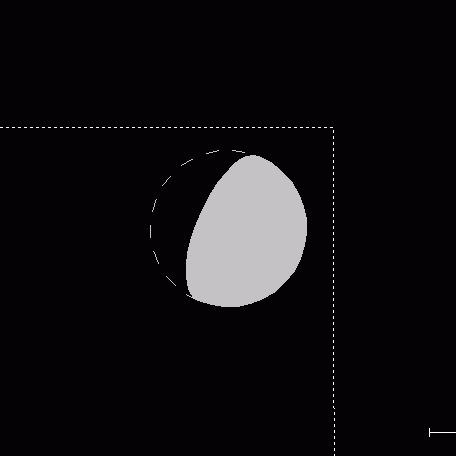 Położenie Wenus 14 lutego 2004 o 20:07