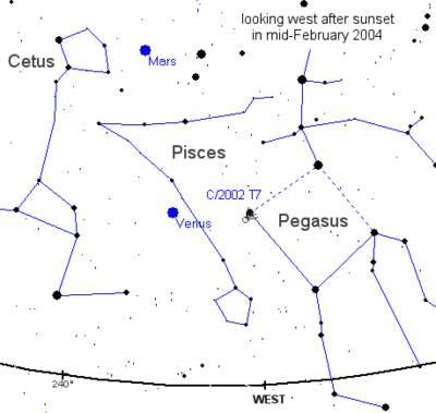 Położenie komety C/2002 T7