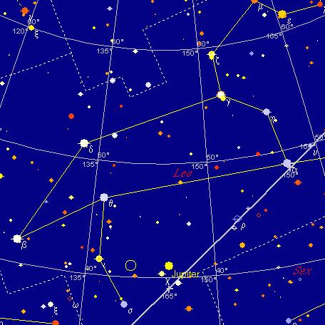 Jowisz i Księżyc, 6 marca 2004 godzina 22:00