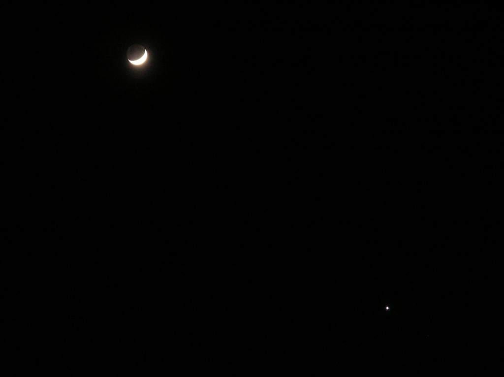 Księżyc iWenus 24 stycznia 2004 (2)