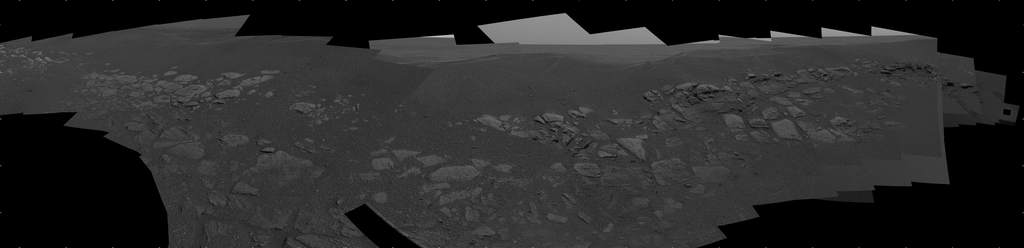 Panorama złoża skalnego