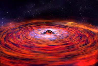 Dysk akrecyjny wokół gwiazdy neutronowej