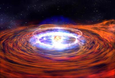 Wybuch nagwieździe neutronowej
