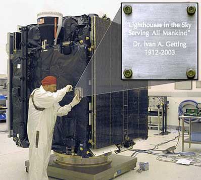 Tabliczka na satelicie GPS 2R-11