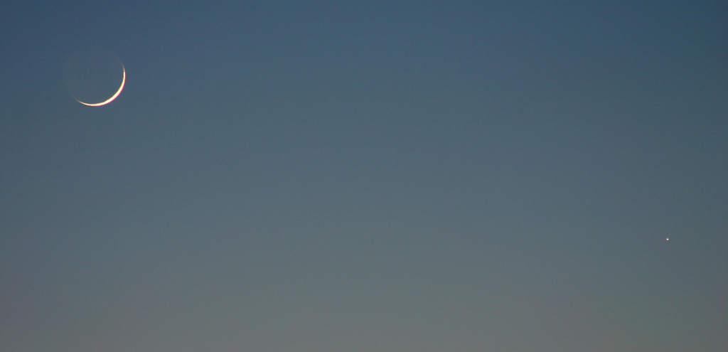Księżyc i Merkury, 22 marca 2004