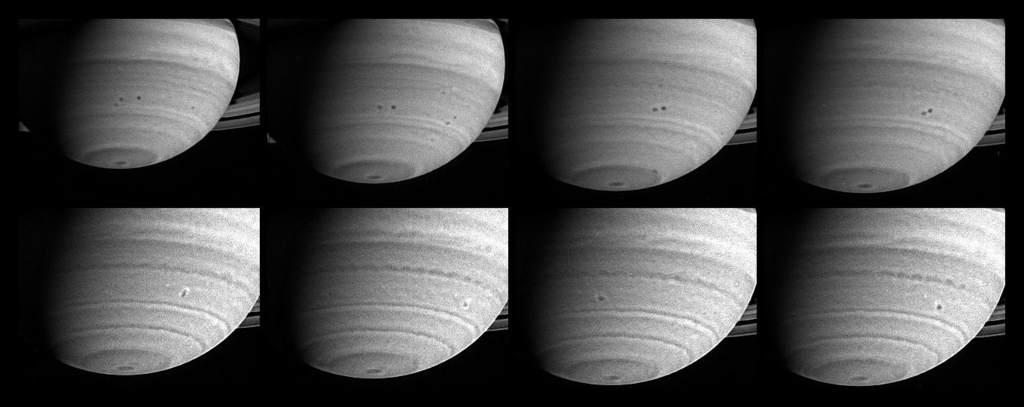 Fuzja sztormów na Saturnie