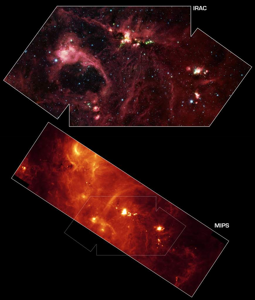 DR21 w obiektywie Kosmicznego Teleskopu Spitzera